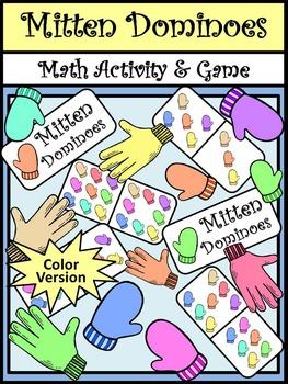 Winter Activities: Mitten Dominoes Winter Math Game Activity Packet