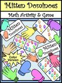 Winter Activities: Mitten Dominoes Winter Math Game Activity Packet - Color