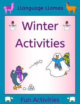 Winter Activities for ESL, EAL, EFL