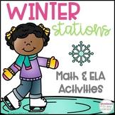 Winter Activities - 5 Language Arts and 5 Math Stations