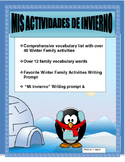 Mis Actividades de Invierno- AR/ER/IR-Writing Prompt for Winter Activities