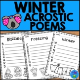 Winter Acrostic Poems | Winter Writing Activity
