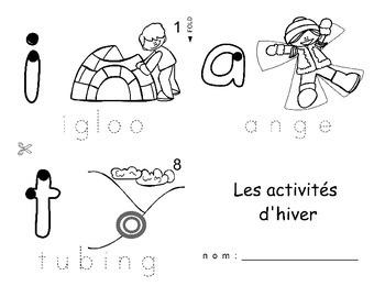 Winter Fun Activities / Activités d'hiver FRENCH Workbook