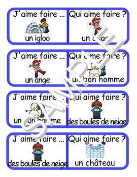 Winter  Fun Activities / Activités d'hiver FRENCH Workbook & Games Package