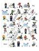 Winter  Fun Activities / Activités d'hiver FRENCH Workbook & Games Package