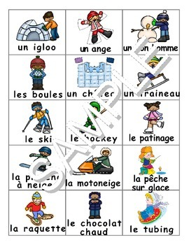 Winter  Fun Activities / Activités d'hiver FRENCH Workbook