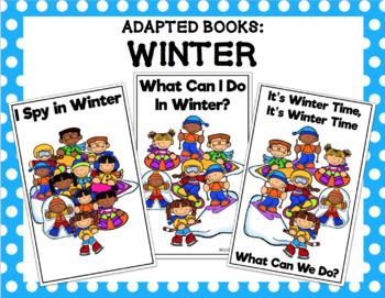 Winter Activities Adapted Book Bundle