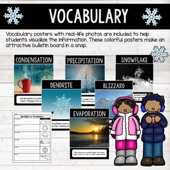 Winter Activities: All About Snow & Life Cycle of a Snowflake