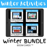 Winter Activities Bundle - BOOM CARDS Distance Learning