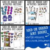 Winter Activities Bundle: Kind Or Unkind Sort Kindness Activities