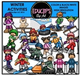 Winter Activities Clip Art Bundle {Educlips Clipart}