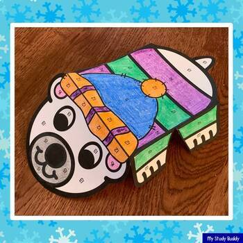Color by Number Winter / Christmas Crafts (Winter Math Crafts)