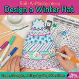 After Winter Break Activity: Design a Snow Hat Art Game & Writing Prompts
