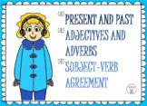 Winter Activities - ELA Review (Present and Past Tense, Ad