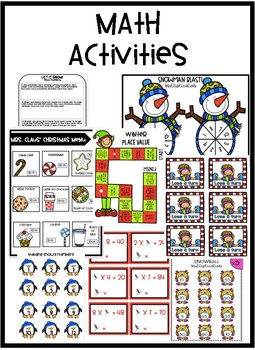 Christmas Activities - Winter Activities- ELA and Math Activities!