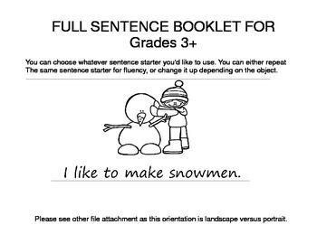 Winter Activities ESL Workbook