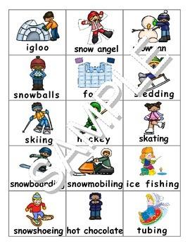 Winter Activities ESL Workbook&Games Package
