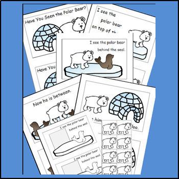 Winter Activities Emergent Reader Bundle, Snowman, Penguins, Polar Bear
