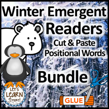 Winter Activities Emergent Reader Bundle, Snowman, Penguin