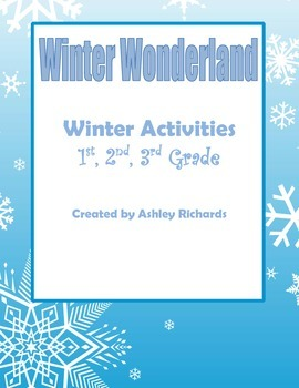 Winter Activities (Essay, Main Idea, Sequence, Writing) with COMMON CORE