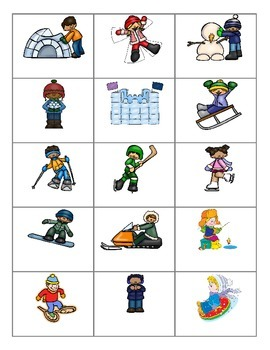 Winter  Fun Activities FOREIGN LANGUAGE Games (Spanish,Italian,German etc)