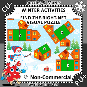 Winter Activities: Find the Net for the Model House, Non-CU