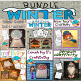 January and February Activities First Grade: Winter Math Bundle