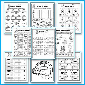 Winter Activities For Kindergarten - Winter Math Worksheet