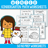 Winter Activities For Kindergarten - Winter Math Worksheet