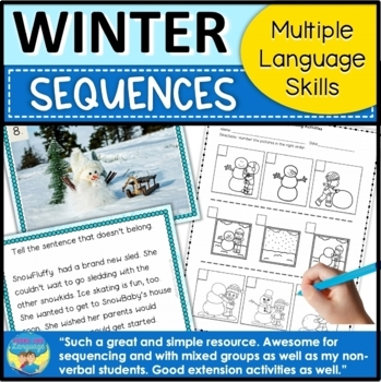 Winter Sequencing Stories with Pictures and No Prep BOOM Cards for iPad