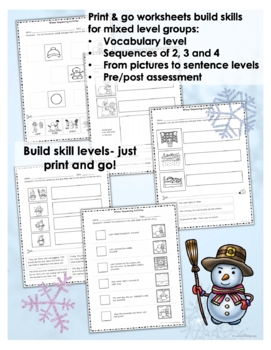 speech language therapy winter picture activities for sequencing boom cards. Black Bedroom Furniture Sets. Home Design Ideas
