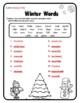 Compound Words Winter Grammar Winter Activities Winter Words Winter 2nd
