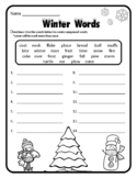 Compound Words Winter Grammar Winter Activities Winter Wor