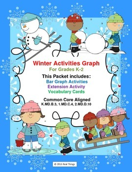 Winter Graphing-Winter Activities Common Core Aligned