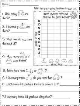 Winter Activities - In School Snow Day Thematic Unit