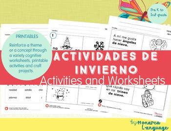 Winter Activities- Actividades de Invierno {Spanish Blundle}