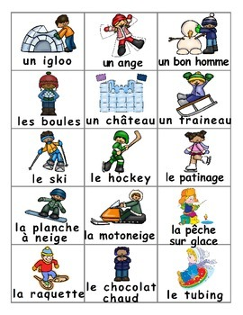 Winter  Fun Activities / Activités d'hiver FRENCH Games