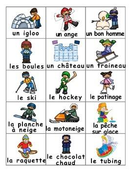 Winter  Fun Activities / Activités d'hiver FRENCH Games