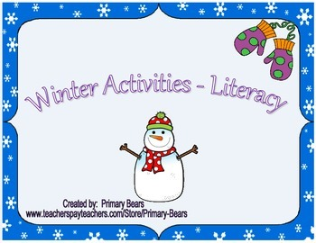 Winter Activities - Literacy