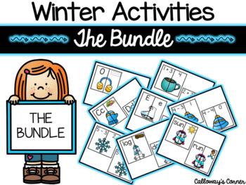Winter Activities Mega Matching Bundle