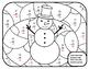 Snowman Math Subtraction Winter Color by Number Math Winter 2nd Math Snowman