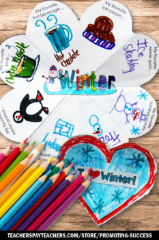 Winter Craft Activity, Winter Literacy Centers Craftivity