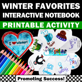 Fun Winter Craft Activity, Interactive Notebook Foldable