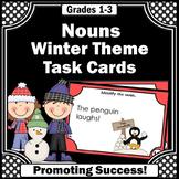 Noun Task Cards, Winter Grammar Practice