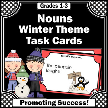 Nouns Task Cards for Winter Games & Activities Literacy Ce