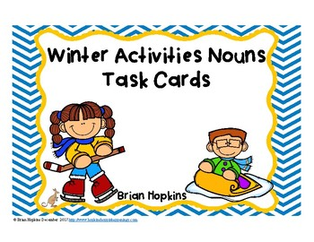Winter Activities Nouns Task Cards