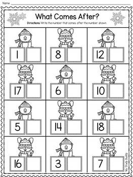 Winter Activities: Numbers 1-20 (Winter Math for ...