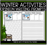 Opinion Writing Prompts About Winter Activities
