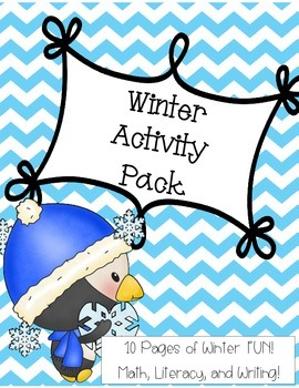 Winter Activities Pack - Math, Literacy, and Writing