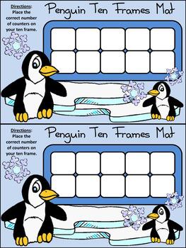 Winter Activities: Penguin Ten Frames Winter Math Activity